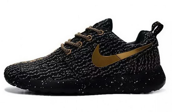 Mens Nike Roshe Yeezy Boost 350 Black Gold Outlet
